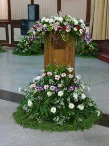 bunga taman podium